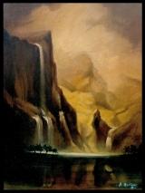 <h5>Davide De Agostini - Alle porte dell'Eden</h5><p>Olio su tavola, cm 30 x 40</p>