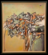 <h5>Sergio Scanu - Cresta vivace</h5><p>Olio su masonite, cm 65 x 75, 2005</p>