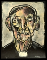 <h5>Sergio Scanu - Don Tarcisio</h5><p>Olio su cartoncino, cm 35 x 45, 2007</p>