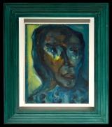 <h5>Adriano Tuninetto - Figurina</h5><p>Acrilico su tela, cm 27 x 34, 1956</p>
