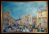 <h5>Gianni Bergamin - Quadro storico </h5><p>Olio su tela,  100 x 70 cm</p>