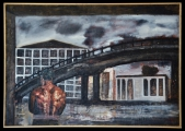 <h5>Gianni Bergamin - In fonderia  </h5><p>Tecnica mista,  70 x 100 cm 1999</p>