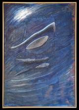 <h5>Gianni Bergamin - Hiroshima  Mon Amour n.1  </h5><p>tecnica mista,  70 x 100 cm 1990</p>