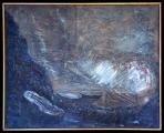 <h5>Gianni Bergamin - Hiroshima Mon Amour n.2  </h5><p>tecnica mista, 100 x 80 cm 1990</p>